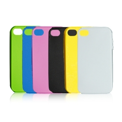 3D Sublimation Rubber Phone Case for iPhone 4/4S(2IN1)