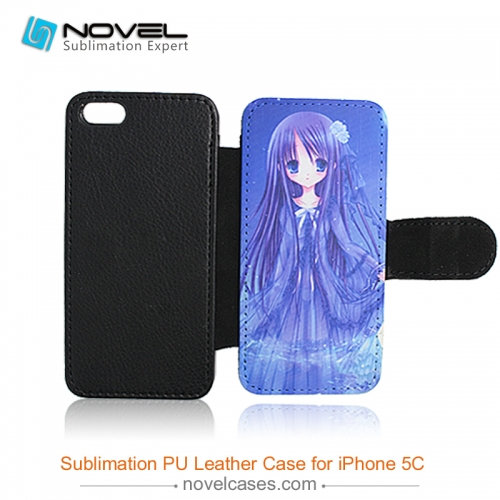 For iPhone 5C Sublimation PU Leather Phone Case, PU Phone Wallet