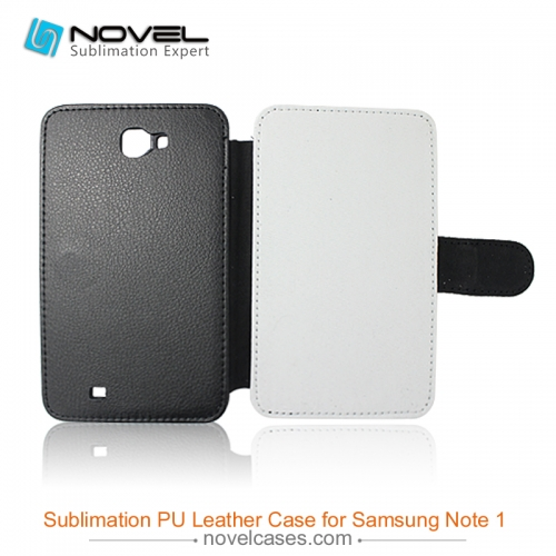 For Sam sung Galaxy Note 1 I9220 Sublimation Leather Case, Leather Phone Wallet