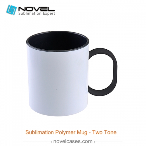 Custom Sublimation Blank 11oz Inner Color Polymer Plastic Mug