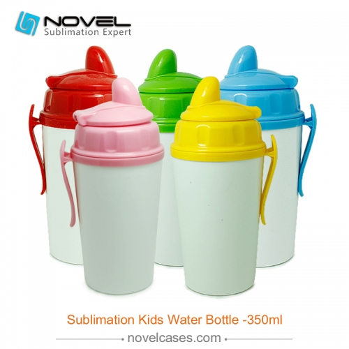 Fashionable sublimation custom design kid water bottle,350ml-style