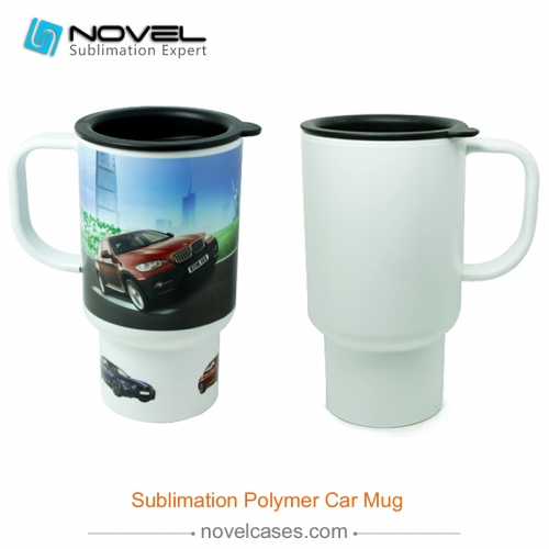 Sublimation Custom Design Polymer Plastic Car Mug