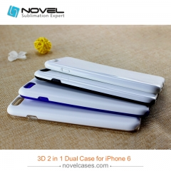 For iPhone 6 Custom Design Sublimation Blank 3D 2IN1 Phone Case