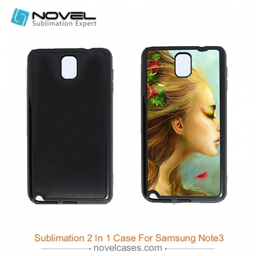 For Galaxy Note 3 DIY Sublimation Blank 2D 2IN1 Dual Protective Smartphone Cover