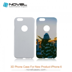 For iPhone 6 (With Round Hole) Sublimation Blank 3D Polymer Phone Case