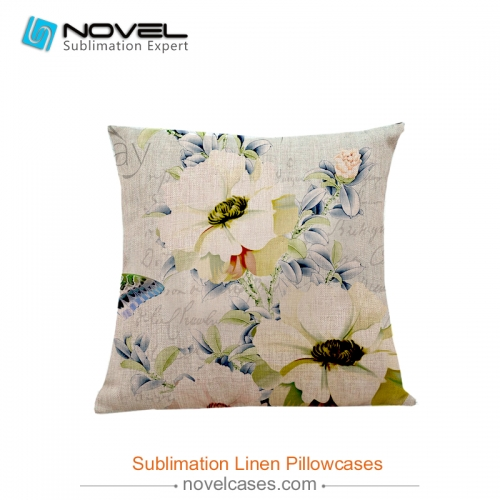 Hot sale high quality  Sublimation linen pillow case