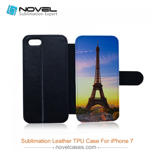 Sublimation flip leather cover for iphone 7/8
