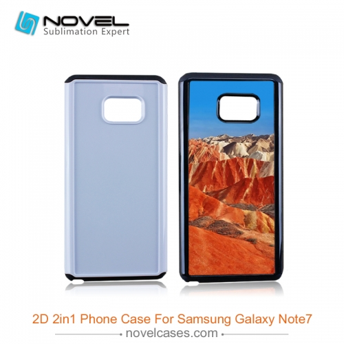 For Galaxy Note 7 Sublimation Blank 2IN1 Dual Protective Phone Case