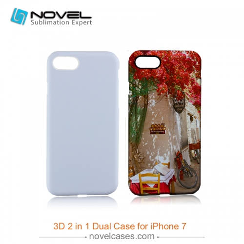 For iPhone 7/8 Blank Sublimation 3D 2IN1 Heavy Duty Mobile Phone Cover