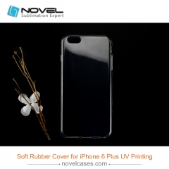 DIY  soft rubber mobile phone cases for uv printing for iphone 6 plus