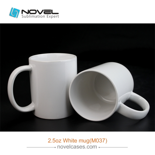 2.5 OZ Sublimation Mini Ceramic White Mug