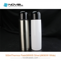 500ml White Sublimation Blank Thermos Flask,Custom Thermos Bottle