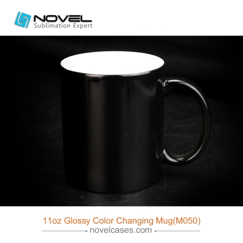 11oz Sublimation Ceramic Changing Color Mug,Glossy Color Changing Cup