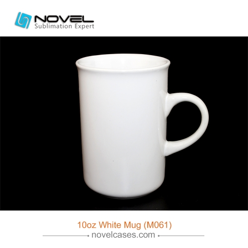 10 OZ Sublimation Coating White Mug with Curved Rim