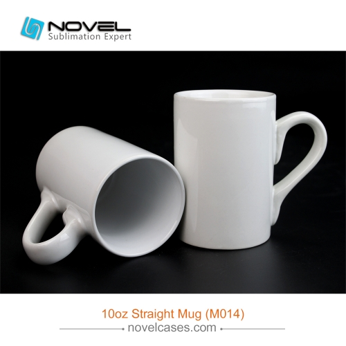 10 oz White Sublimation Photo Printing Straight Mug