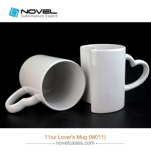 11OZ Sublimation White Ceramic Sublimation Lovers Mug,Couple Coffee Cup
