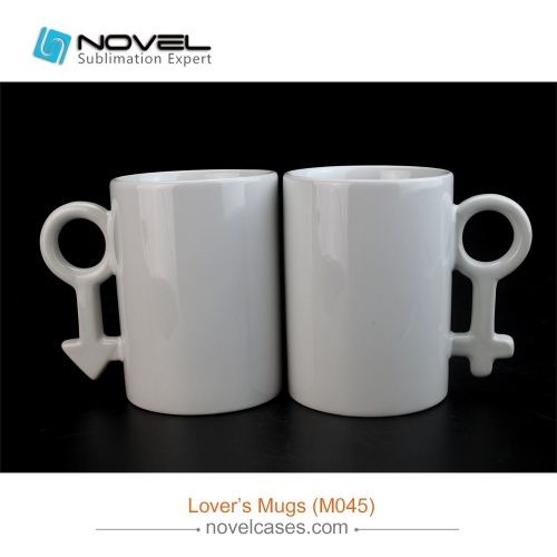 10oz Sublimation White Couple Mug,Love's Cup