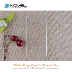 New Sublimation Clear 3D Film Polyglass Case For iPhone 8 Plus(Compatible iPhone 7+)