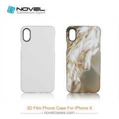 New Sublimation 3D Film All Area Printed Case For iPhone X
