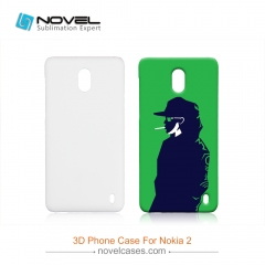 For Nokia 2 Custom Design Sublimation 3D PC Smartphone Case
