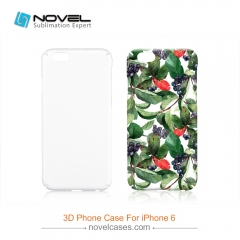 For iPhone 6 New Style Sublimation 3D PC Smartphone Case With Full Edge