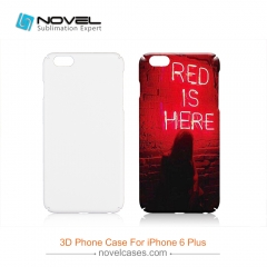 For iPhone 6 Plus New Style Sublimation 3D Plastic Phone Case With Full Edge