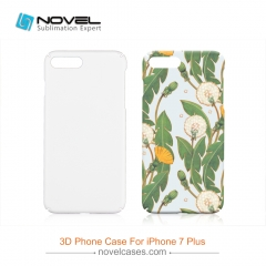 For iPhone 7/8 Plus New Style Sublimation 3D Custom Phone Case With Full Edge