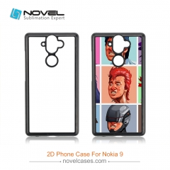 For New Arrival Nokia 9 Sublimation 2D Plastic Back Shell Phone Case
