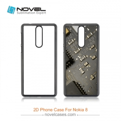 For New Arrival Nokia 8 Sublimation 2D Hard PC Cell Phone Cover Case