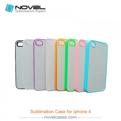 Clearance Sale For iPhone 4/4S Old Version Sublimation Blank 2D Plastic Colorful Phone Case