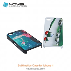 For iPhone 4/4S Sublimation Blank 2D Plastic Colorful Smartphone Shell Back Cover
