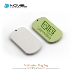 New Sublimation Printable Polymer Oval Dog Tag,5.8*3.3cm