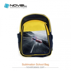 Sublimation Blank Children Backpack Custom School Bag-Black