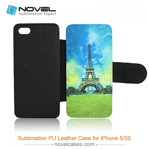 For iPhone 5/5S/SE Sublimation Blank PU Leather Mobile Phone Case