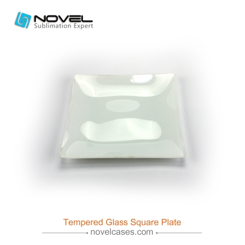 Custom Sublimation Blank Tempered Glass Square Plate