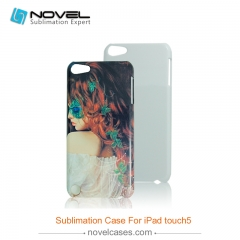 For iPod Touch 5 Custom Sublimation Blank 3D Phone Back Case
