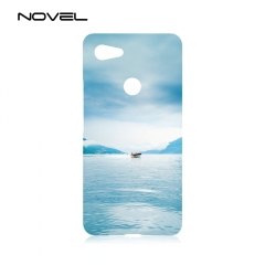 "For Google Pixel 3 XL 5.5"" Sublimation Blank White 3D Plastic Phone Cover"