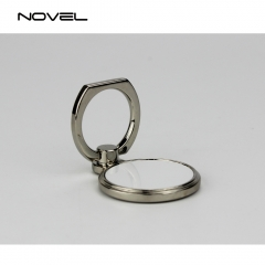 Sublimation Blank Round Ring Holder For Mobile Phone