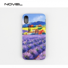 Popular For iPhone XS Max Sublimation Blank 3D 2IN1 Phone Case