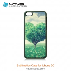 For iPhone 5C Sublimation 2D Plastic Phone Housing Back Cover
