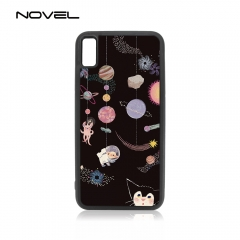 For iPhone 4/5/6/6+/7/8/8+/XS/XR/XS Max Popular TPU Case Sublimation 2D Black Rubber Phone Back Shell