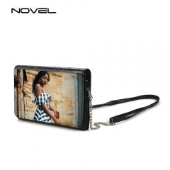 DIY Sublimation Blank Fashion Lady Chain Shoulder Bag PU Crocodile Women Leather Bag