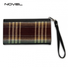 Sublimation Blank Lady Canvas Hand Wallet Women Hand Bag