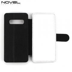 Sublimation Blank PU Leather Case Flip Phone Wallet For Galaxy S10