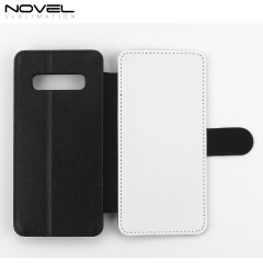Sublimation Blank PU Leather Flip Wallet Case For Galaxy S10 Plus