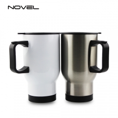Sublimation Blank Stainless Steel Car Mug 14oz Travel Mug