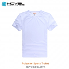 Sublimation Blank Milk Silk Polyester T-shirt for Men