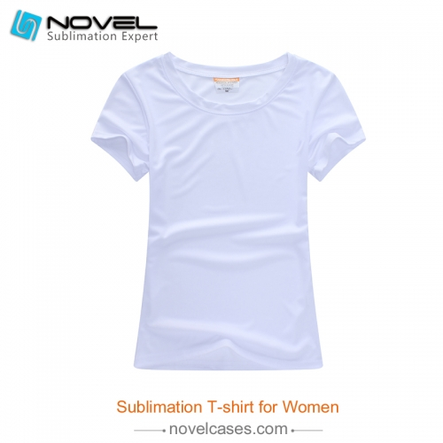 Sublimation Blank Milk Silk Polyester T-shirt for Women