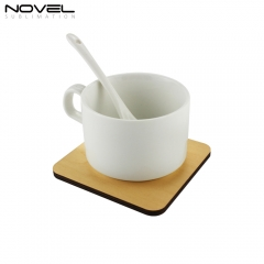 Custom Sublimation Blank Wood  Coaster Square Cup Mat