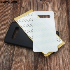 New Sublimation Blank 2D TPU Case With Tempered Glass Insert For Galaxy S10 Plus